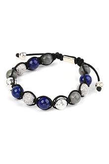 NIALAYA Crystal sterling silver bead bracelet