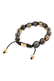NIALAYA Onyx stone and crystal bracelet
