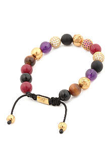 NIALAYA Multi crystal beaded bracelet