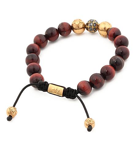 NIALAYA Diamond beaded bracelet (Brown