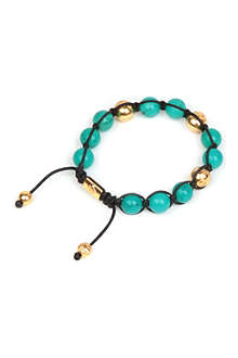 NIALAYA Gold and bali turquoise bracelet