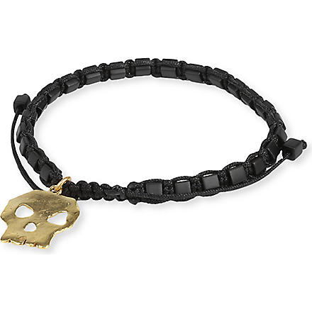 DAISY KNIGHT Skull friendship bracelet (Black
