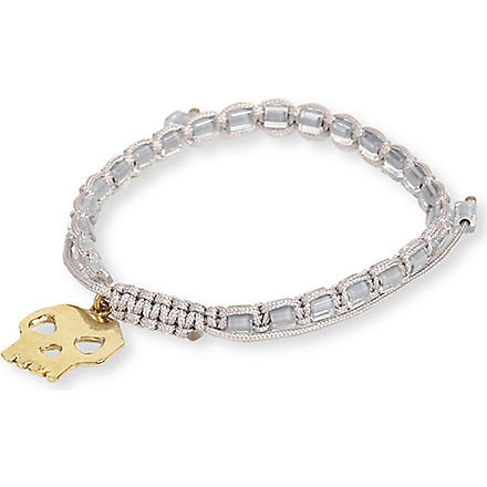 DAISY KNIGHT Skull friendship bracelet (Grey