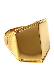 DOMINIC JONES Moses gold-plated ring