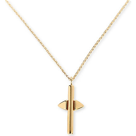 DOMINIC JONES Francis cross pendant (Gold
