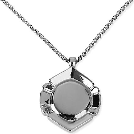 DOMINIC JONES Salvatore circle pendant (Silver