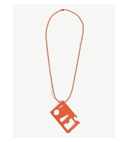 OFF-WHITE C/O VIRGIL ABLOH 刀片金属项链 (橙色