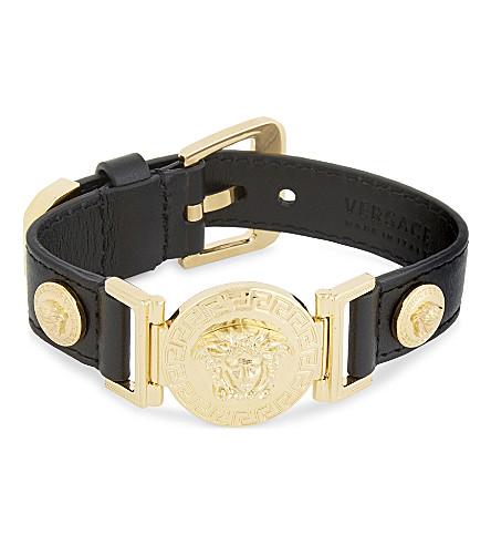 VERSACE Medusa plaque bracelet (Black/gold