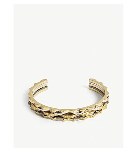 VERSACE Two-tone bangle (Silver+gold