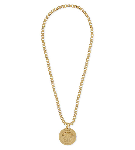 VERSACE Medusa pendant necklace (Gold