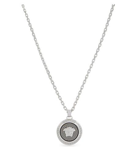 VERSACE Medusa pendant necklace (Palladium+black