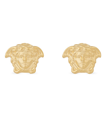 VERSACE Medusa stud gold-tone earrings (Gold
