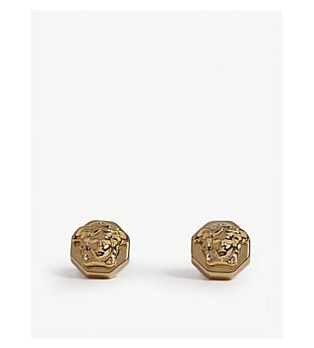 VERSACE Octagon Medusa earrings (Gold