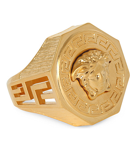 VERSACE Medusa Greca gold-plated ring (Gold