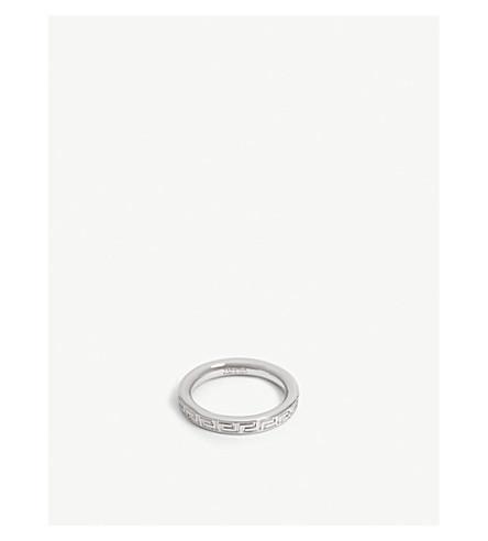 VERSACE Engraved Greek Key pattern ring (Silver