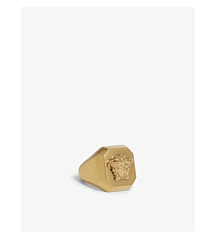 VERSACE Medusa head gold-plated ring (Gold