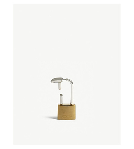 AMBUSH Hues padlock earring (Gold