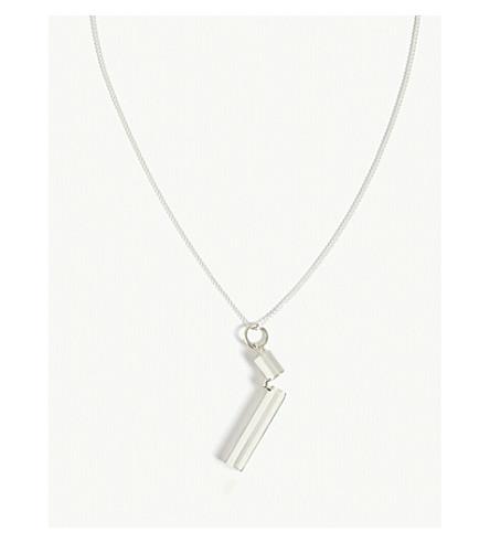 AMBUSH Pill case sterling silver necklace (Silver