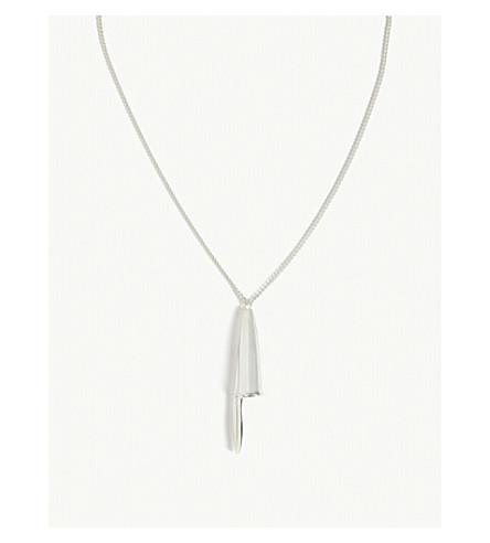 AMBUSH Pen cap sterling silver necklace (Silver