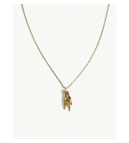 AMBUSH Hand pendant necklace (Gold