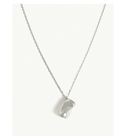 AMBUSH Crushed can pendant necklace (Silver