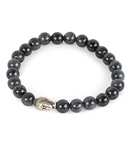 NIALAYA Buddha head bracelet (Black