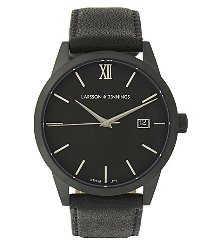 LARSSON & JENNINGS Saxon 39m automatic watch (Black