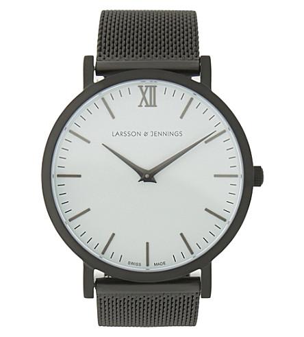 LARSSON & JENNINGS Lugano stainless steel watch (Matte+anthracite