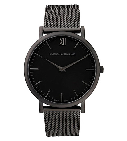 LARSSON & JENNINGS Lugano stainless steel watch (Black
