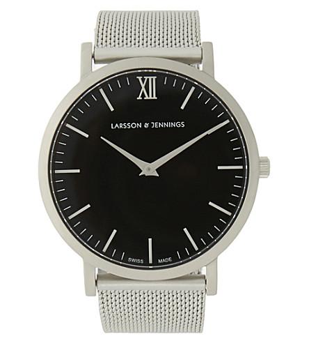 LARSSON & JENNINGS Lugano stainless steel watch (Matte+silver
