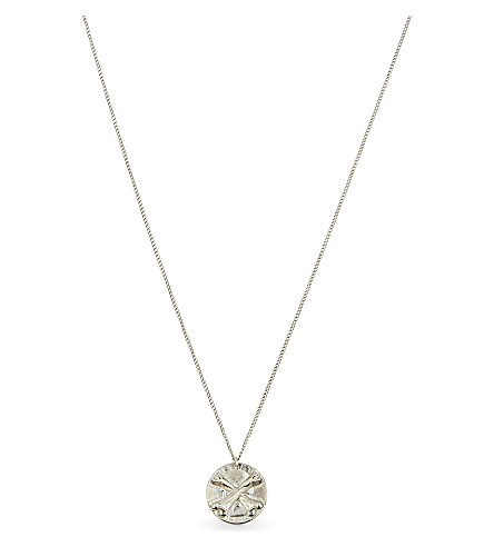 THE SOLOIST Cross-bone sterling silver necklace (Silver
