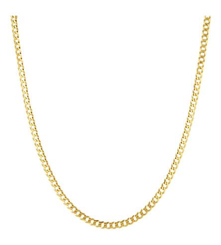 BLACK DAKINI Cuban link chain necklace (Gold