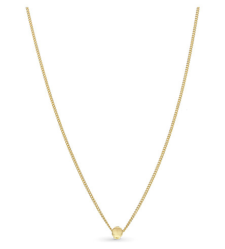BLACK DAKINI Cuban link 18ct gold necklace (Gold