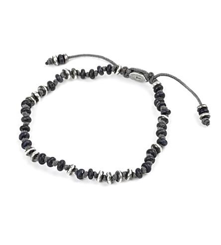 M. COHEN Templar gemstone bracelet (Frosted+black