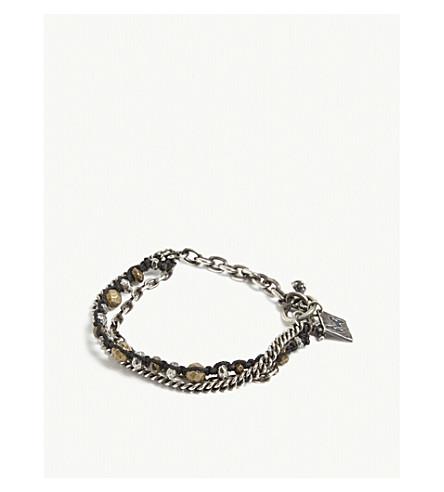M. COHEN Silver beaded chain bracelet (Silver