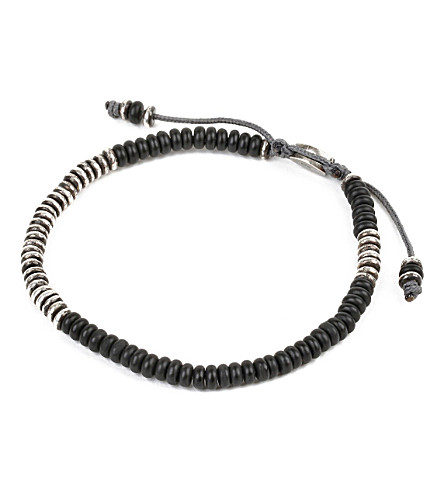 M. COHEN Beaded Gemstone Bracelet (Frosted+black