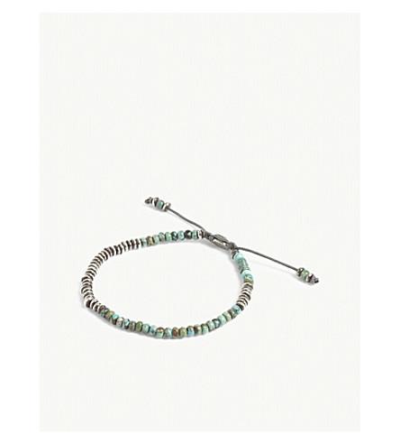 M. COHEN Round table bracelet (Turquoise