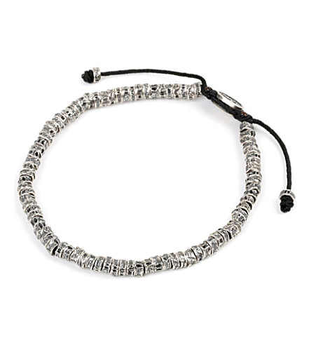 M. COHEN Oxidised Fish Bone Bracelet (Black