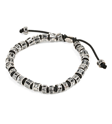 M. COHEN Jointed oxidised Fish Bone Bracelet (Black