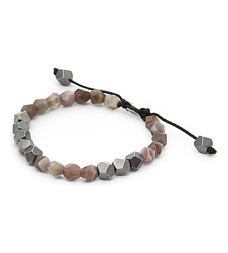 M. COHEN Deca 10 beaded bracelet (Sil+bot