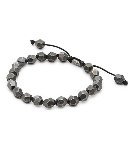 M. COHEN Round table bracelet (Sil+blk