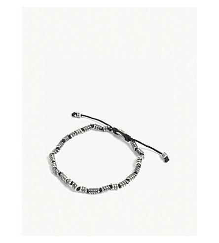 M. COHEN Silver coil knotted cord bracelet (Black