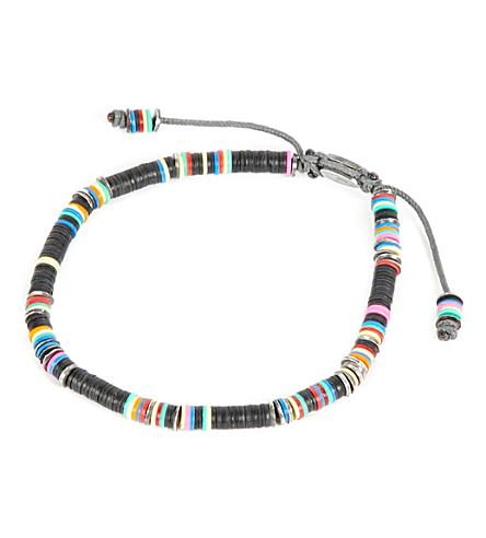 M. COHEN 非洲乙烯基盘手链 (黑色