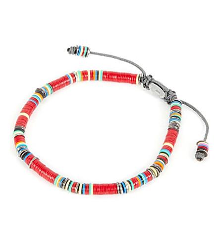M. COHEN African vinyl disc bracelet (Red