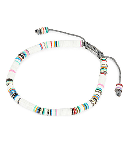 M. COHEN African vinyl disc bracelet (White