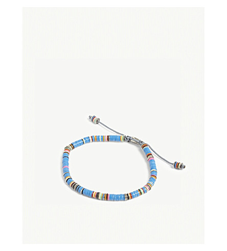 M. COHEN 非洲乙烯基手链 (蓝色