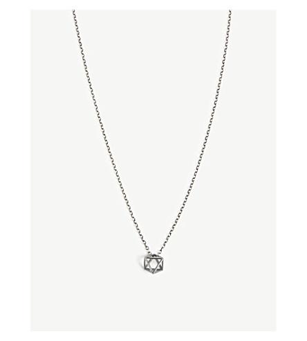M. COHEN Air geometric necklace (Silver