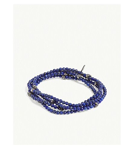 M. COHEN Forsaken Lapis Lazuli wrap bracelet (Lapis