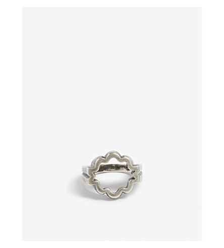 M. COHEN Sterling silver The Equinox ring (Silver