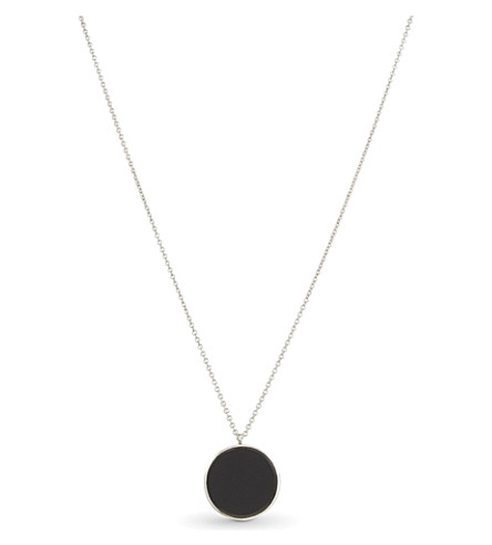 TOM WOOD Large black onyx sterling silver medallion (Blackonyx